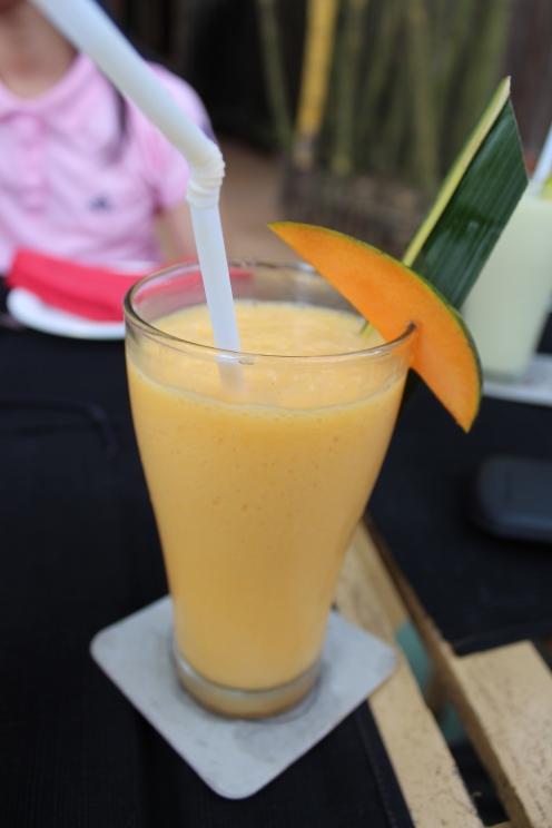 Simply divine mango smoothie.