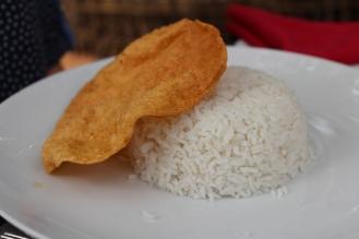 Sri Lankan rice with curry.