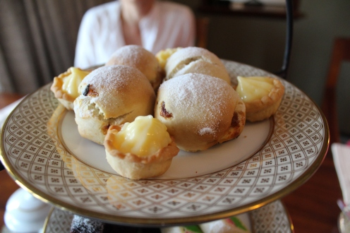 Seconds: beautiful round sugared balls of scones.