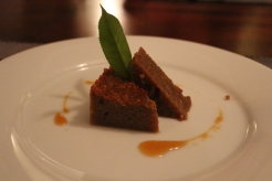 Saccharine sweet dessert reminiscent of Gula Melaka.