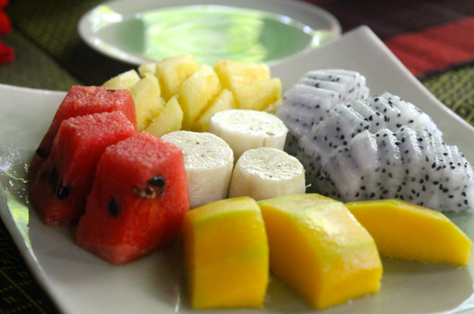 Fresh fruits- Healthy start to a long day.
