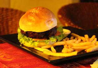 Typical burger- nothing quite stellar.