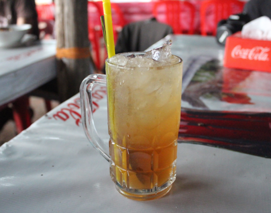 Ice lemon tea in Angkor Wat.