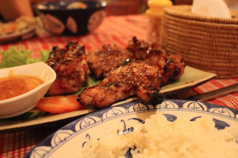 Grilled pork nom.
